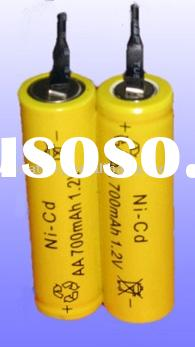 NiCd AA 700mAh 2.4V Rechargeable Battery Pack