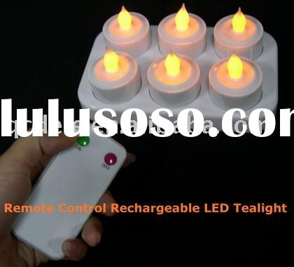 Remote Control Rechargeable Led Candle,Rechargeable Tealight
