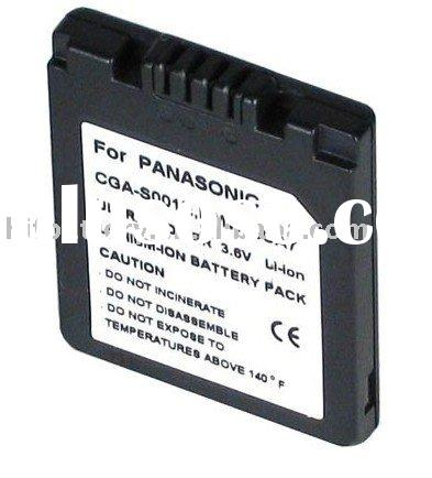 Replacement Digital Camera battery  for Panasonic  Lumix DMC-FX5,CGA-S001,CGA-S001E DMW-BCA7