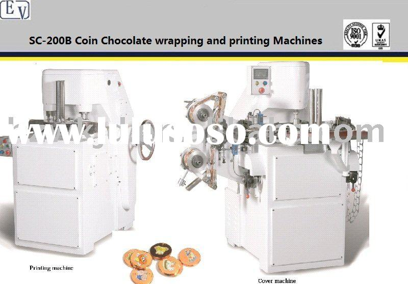 SC200B coin chocolate foil wrapping machine and printing machine