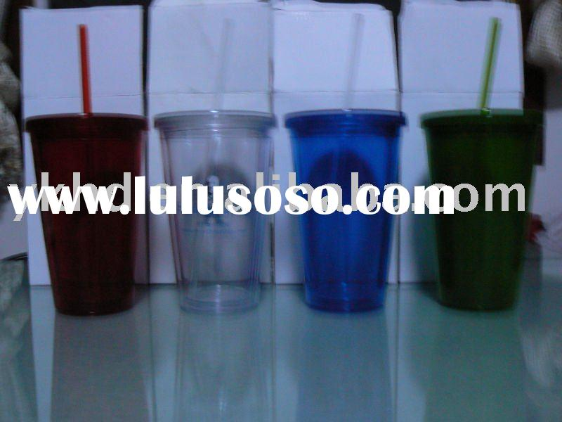 double insulated  acrylic bubble cups