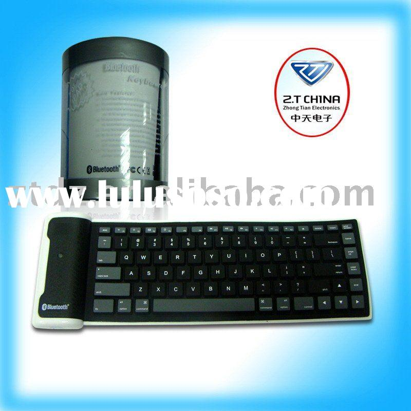 hot selling products IPAD/IPHONE/PC bluetooth silicon keyboard for electronic game accessory