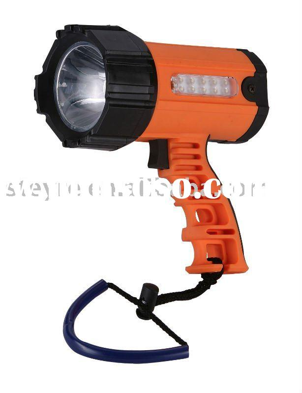 new designed portable cordless 2 in 1 3W 180lms LED spotlight torch lamp in boat,fish,camp,hike