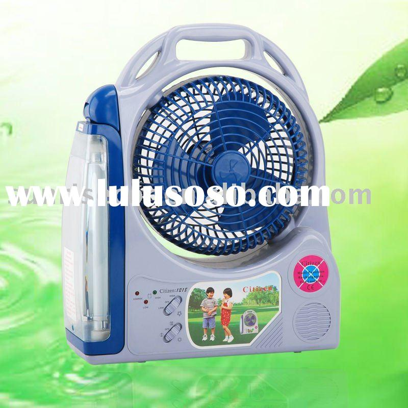 portable rechargeablefan with light