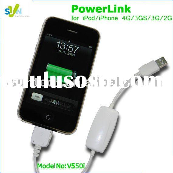 universal external battery pack for ipod,iphone 4g,3gs,3g