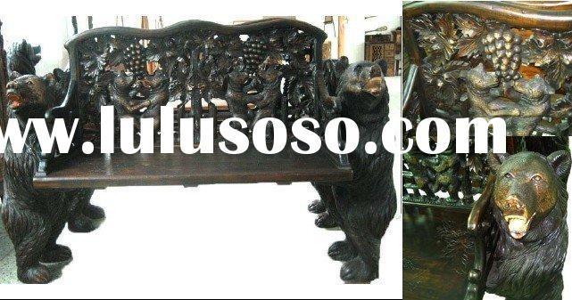 Antique Furniture -solid wood,living room,unique,Carved Bench