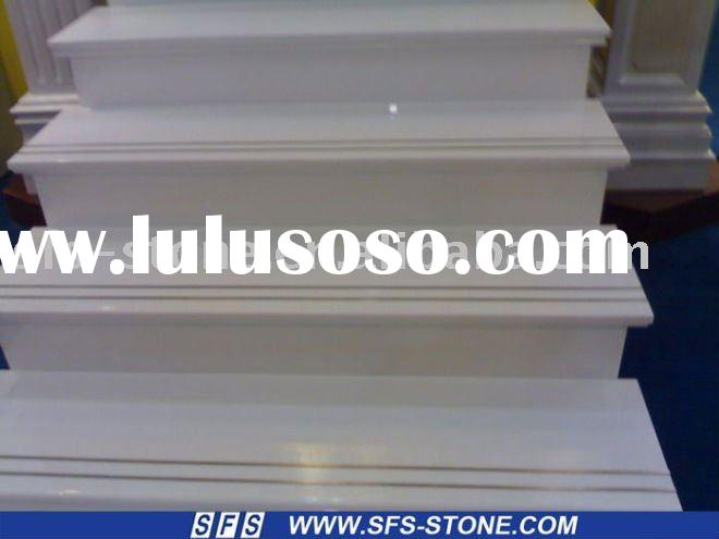 Artificial white stone stair, steps