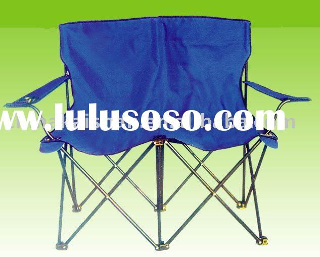 Double beach foldable chairs