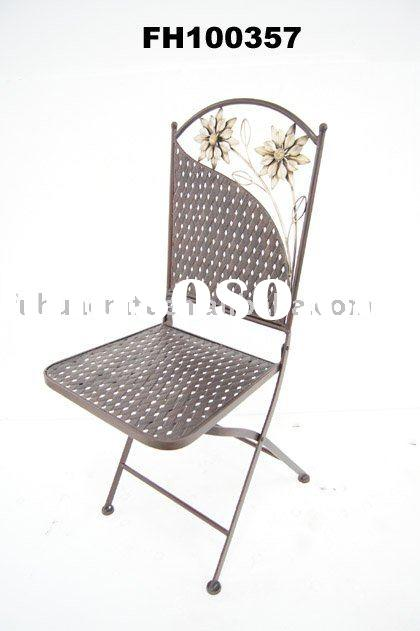 Metal antique folding outdoor single chair