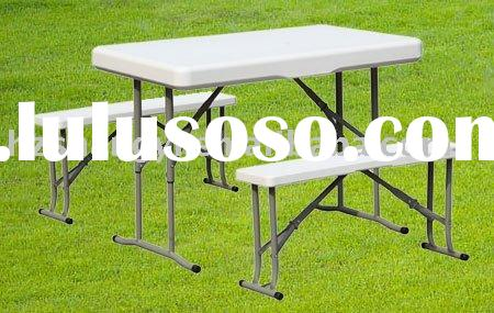 Plastic outdoor folding bench