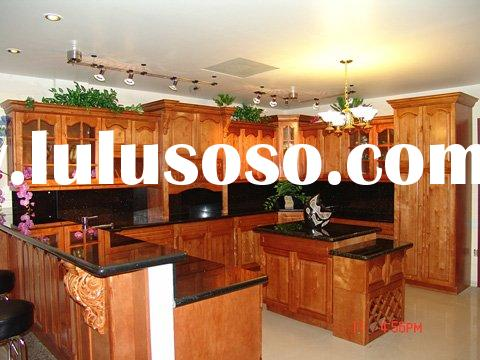 Solid Cherry Wooden  Kitchen Cabinets with Granite Countertop (USA Standard)