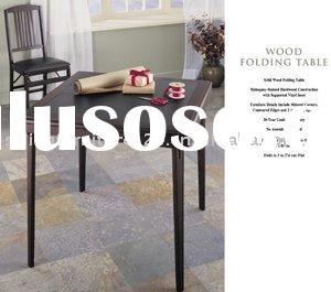 Solid Wood Folding Table & Chair