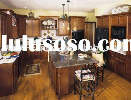 USA Standard Cherry  Kitchen Cabinets with Granite Counter Tops