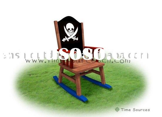 Wooden Pirate Ship Rocking Chair, Kids room wooden furniture.
