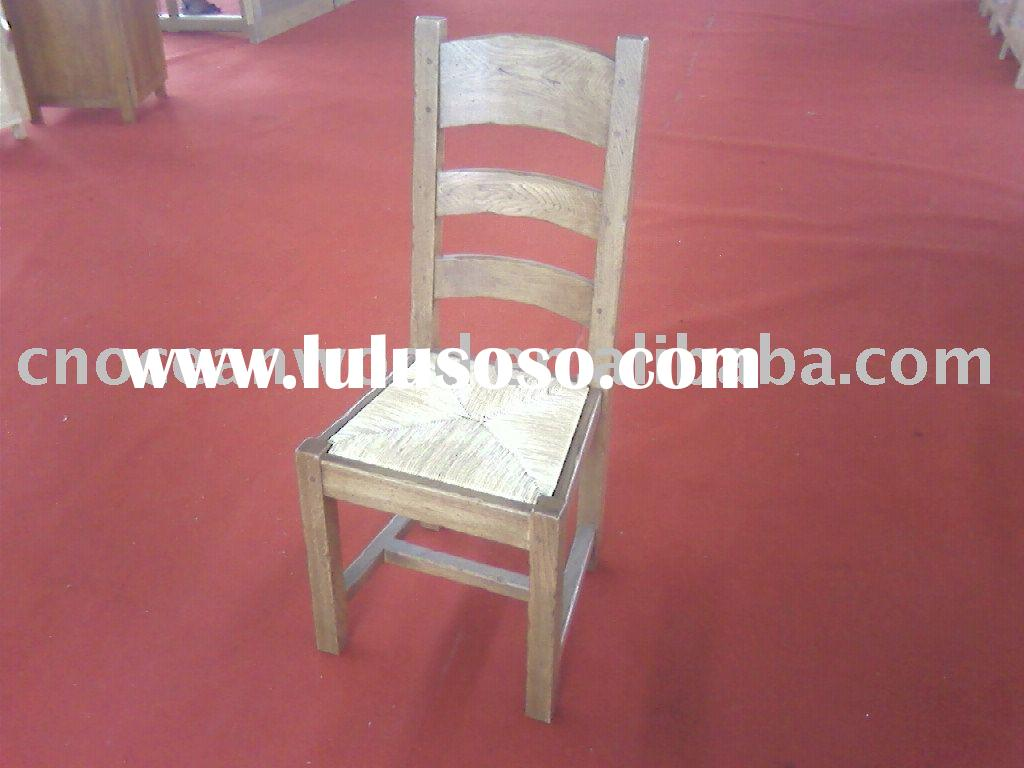 antique chair with straw cushion