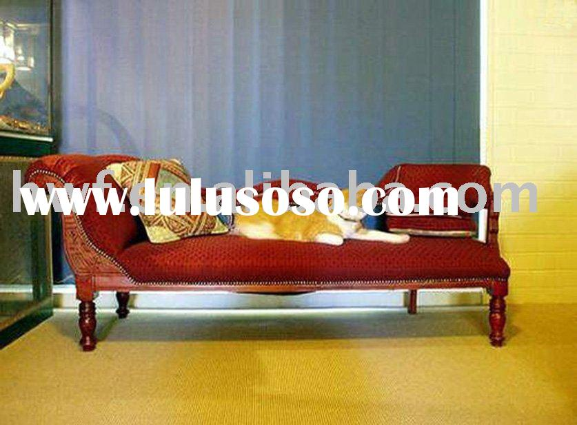 antique fabric chaise lounge