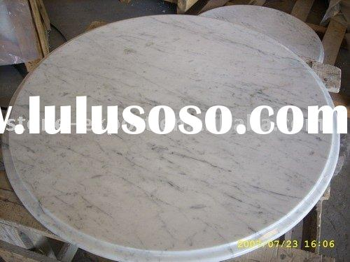 cararra white marble table top