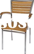 metal chair with wood