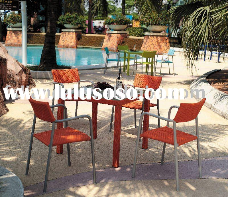 modern outdoor rattan chairs and table for rattan furniture
