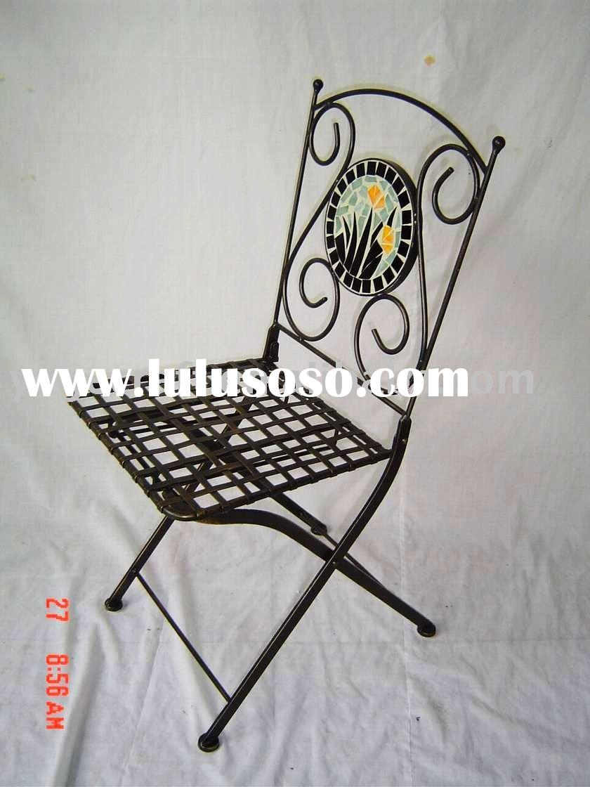 outdoor mosaic chair in metal