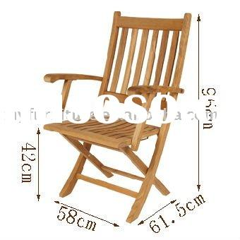 outdoor wooden folded chair