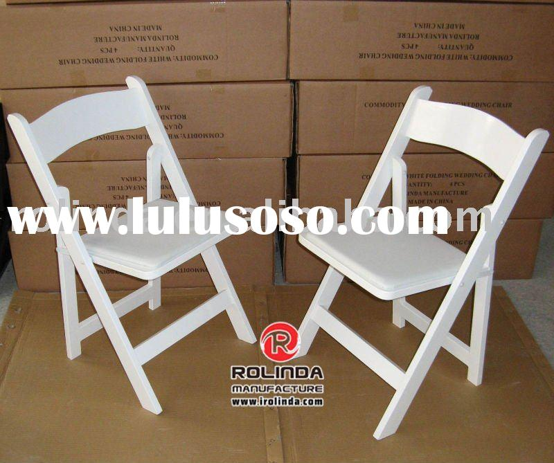 wooden padded folding chair