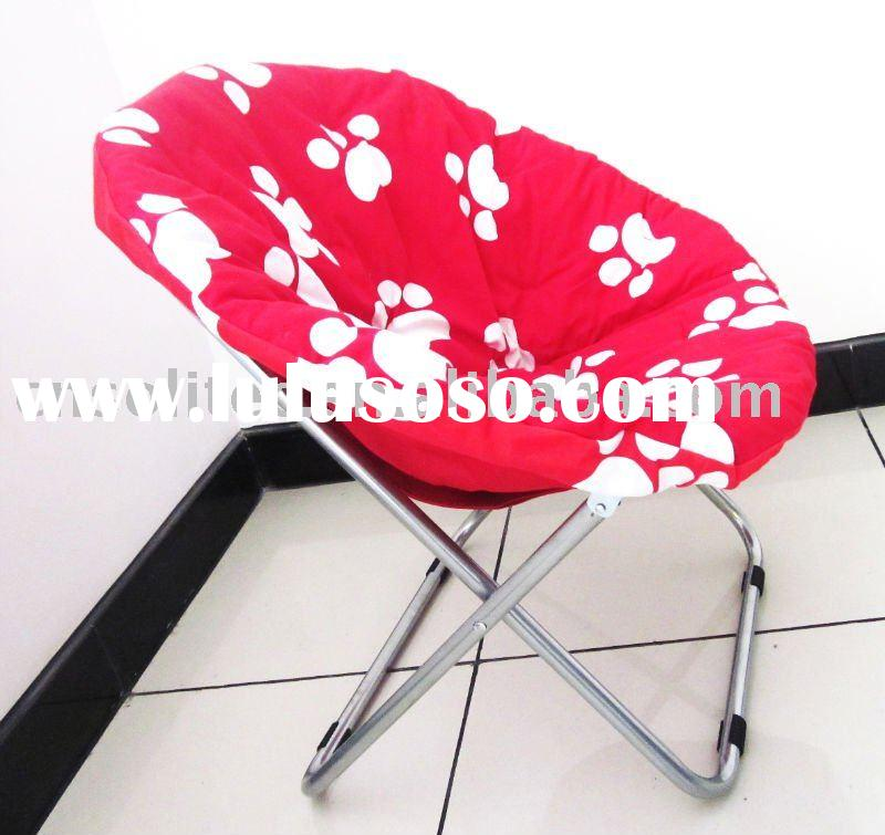 2011 newly spring hot sale cute kids  folding moon chair