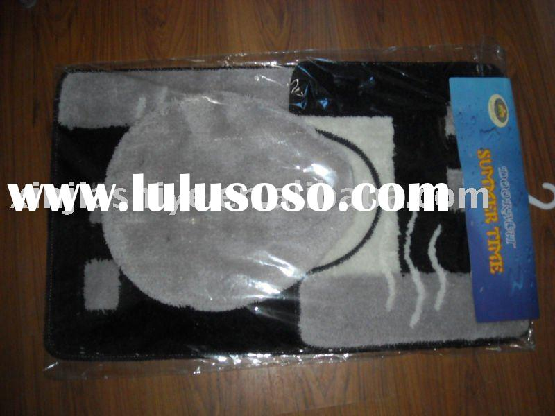 3 pcs Black Acrylic Bath Mat Set