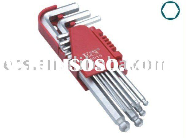 9pc long arm ball end hex key wrench set