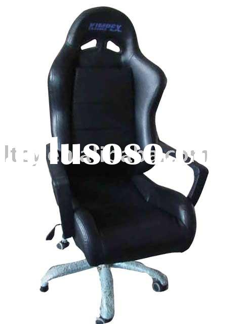Black PVC leather office chair