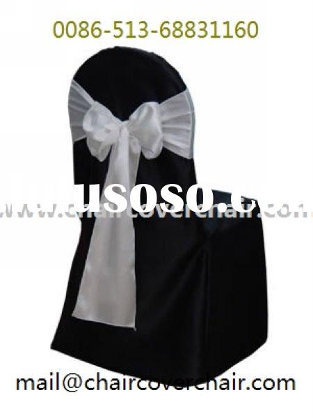 Black Polyester  Chair Cover