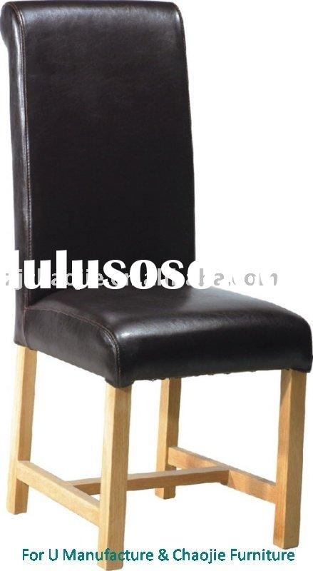 Black high back solid wood Dining Chair DIN.817