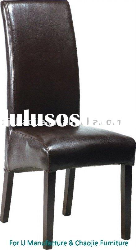 Black high back wooden Dining Chair.DIN.802