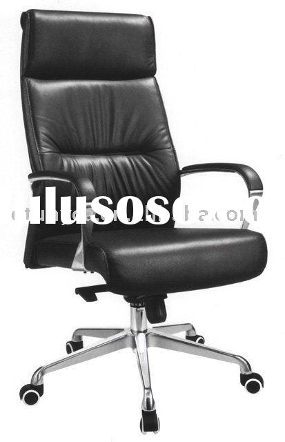 Black leather chair office furniture chair