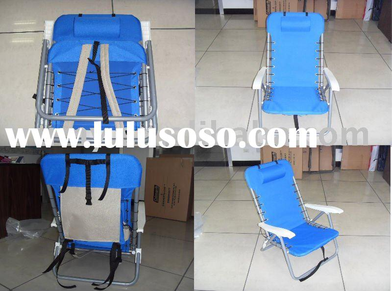 Folding backpack chair