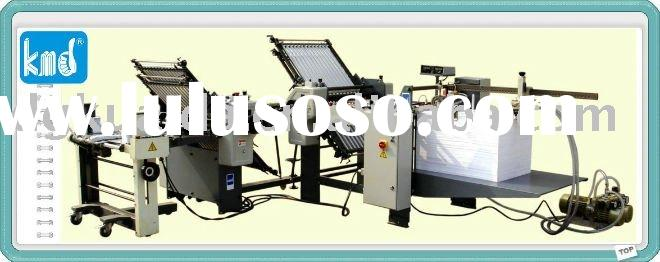 KMD-660T 4combs+4combs paper folding machine/paper products making machinery
