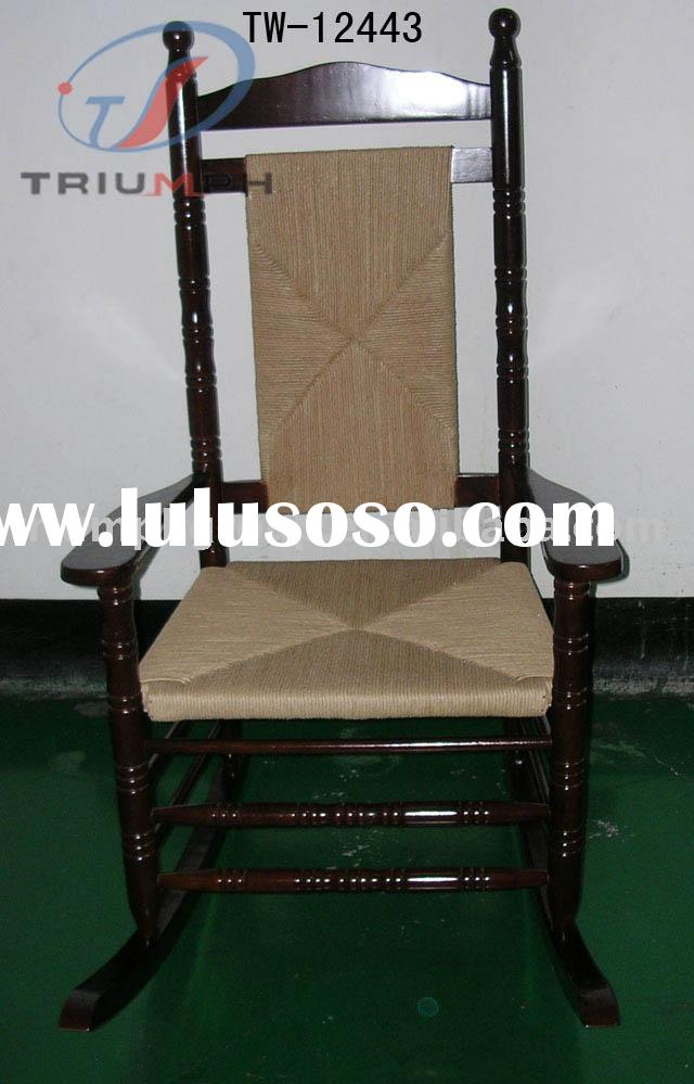 Leisure wooden rocking chair