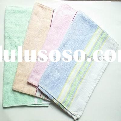 Light Color Stripe Organic Towel