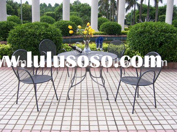 Nice iron mesh outdoor furniture setting