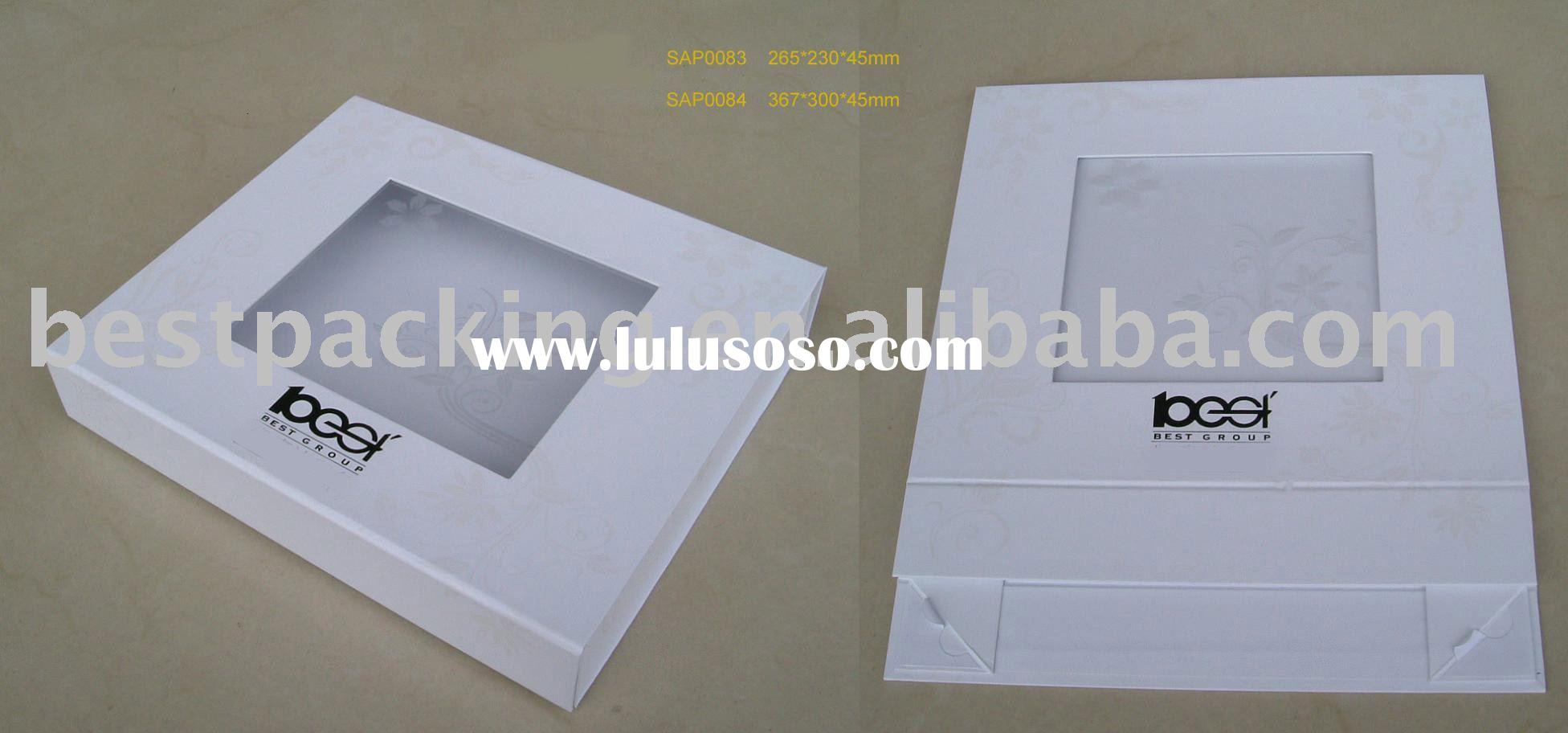 Paper Folding Box / Gift Box with printed clear window