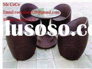 Synthetic rattan egg chairs