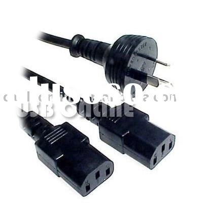Y Power Cord/Lead/Cable for  Computer/Monitor/UPS/Printers