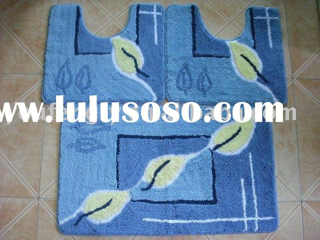 bath mat rug set