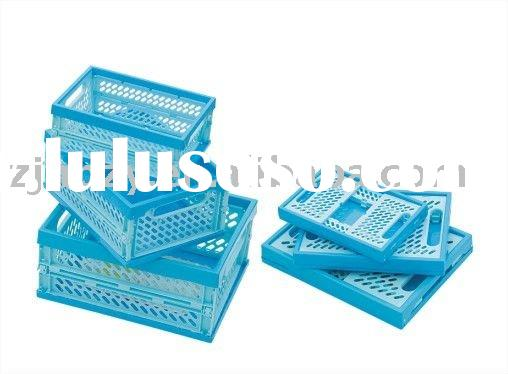 collapsible plastic mesh container