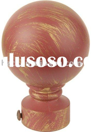 drapery rod  , wooden curtain pole  ,wood rod bracket