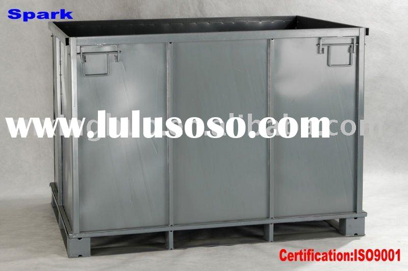 folding metal container/case