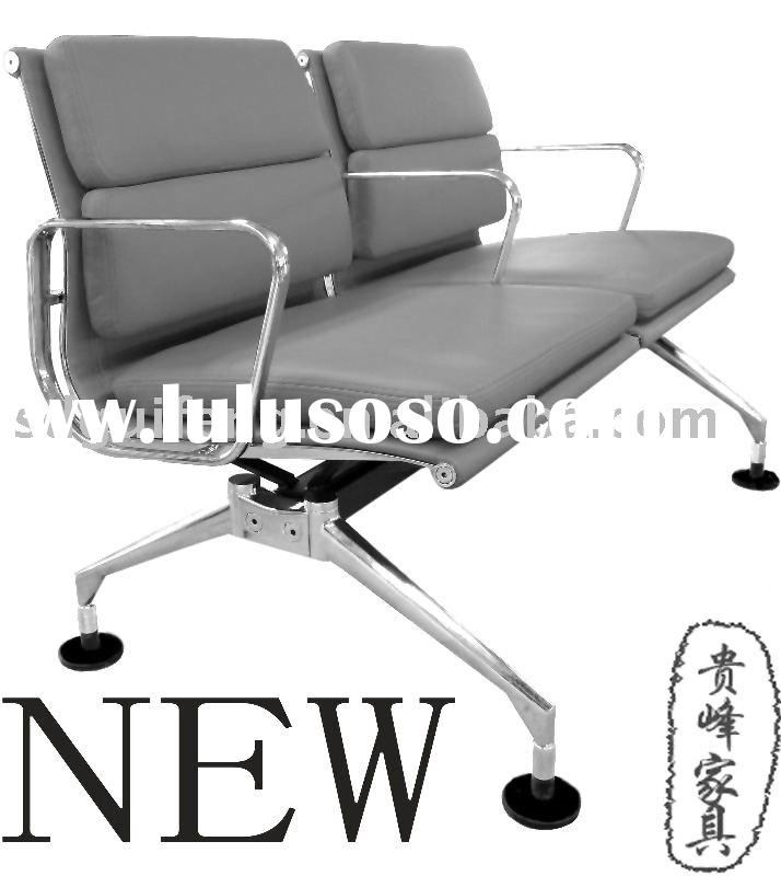 herman miller aluminum 2-seaters waiting chair