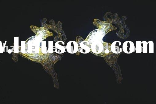 holiday light, Christmas light, 8L LED acrylic flying deer light chain