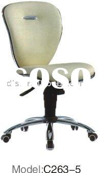 hot sale modern leather small staff chair