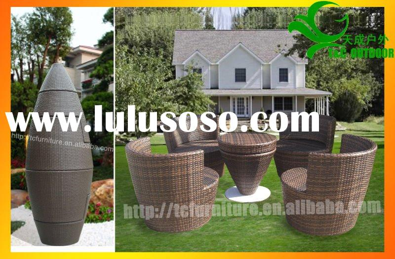stackable high class rattan patio furniture